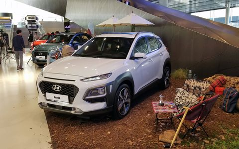 The 2018 Hyundai Kona brings fresh looks and loads of tech to the crowded subcompact crossover market. It launches this year with a variety of powertrains and the option of front- or all-wheel drive.
