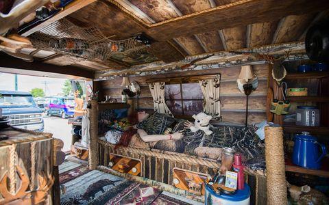 Room, House, Building, Log cabin, Home, Beam, Wood, Interior design, Furniture, Shed,