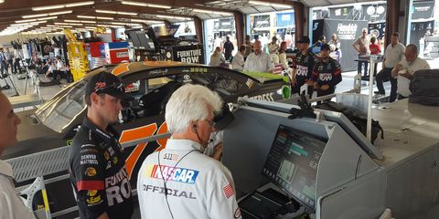 It took four tries for the Martin Truex Monster Energy NASCAR Cup Series entry to pass through pre-race inspection at Chicagoland.