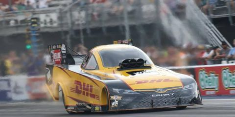 J.R. Todd became the first African-American driver to win an NHRA Funny Car event on Sunday at Sonoma.