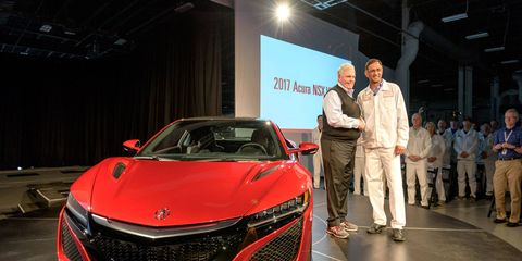 Rick Hendrick bought the first 2017 Acura NSX, as opposed to Jerry Seinfeld or Jay Leno.