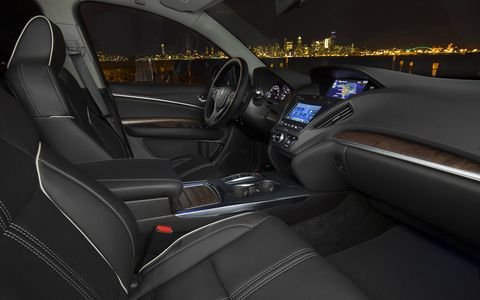 The 2017 Acura MDX Sport Hybrid has the same interior space as the gasoline version.