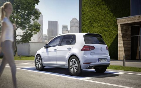 The refreshed Volkswagen e-Golf now has a 124-mile range, faster charging and a top speed of 93 mph.