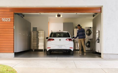 The Volkswagen e-Golf is the first of what VW promises will be many electric cars to come. The new model adds more batteries to increase EPA range to 125 miles, all in a sporty and practical Golf.