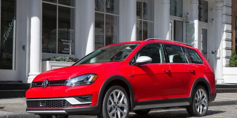 The Alltrack is based on same platform as the Golf SportWagen, but with more ground clearance.