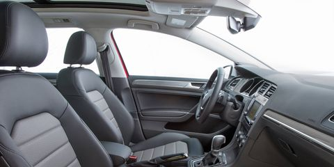 The Alltrack uses Volkswagen's 1.8-liter TSI turbocharged and direct-injected four-cylinder engine, which makes 170 horsepower and 199 pound-feet of torque. The TSI engine will initially be offered with a six-speed DSG dual-clutch automatic transmission, with a six-speed manual transmission available later.