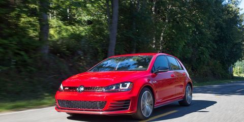 """The new Golf GTI is the first U.S.-market vehicle built on Volkswagen's MQB modular platform.  The unitary construction chassis has two solid-mounted subframes with bolt-on front fenders, and utilizes technologies such as the laser clamp welder, which produces """"wobble seam"""" welds in a wave pattern to maximize strength in a limited space, offering up to four times the strength of a traditional spot weld."""