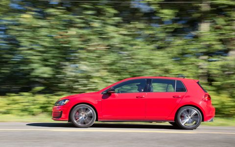 "The new Golf GTI is the first U.S.-market vehicle built on Volkswagen's MQB modular platform.  The unitary construction chassis has two solid-mounted subframes with bolt-on front fenders, and utilizes technologies such as the laser clamp welder, which produces ""wobble seam"" welds in a wave pattern to maximize strength in a limited space, offering up to four times the strength of a traditional spot weld."