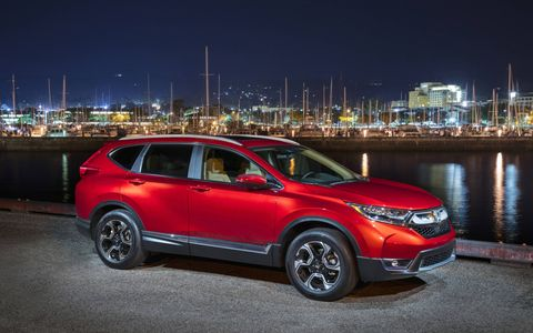 The 2017 Honda CR-V has a 1.5-liter turbocharged four making 190 hp and 179 lb-ft of torque