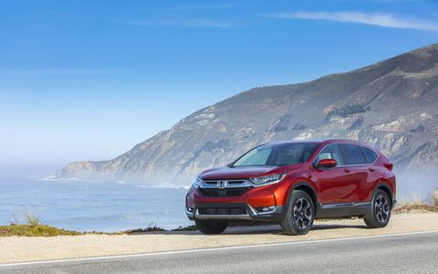 The 2017 Honda CR-V gets a choice of a 2.4-liter inline four or an all-new 1.5-liter turbocharged four.