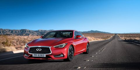 The 2017 Infiniti Q60 sports coupe starts at $39,855. The top trim, besides the Red Sport, comes in at $47,205.