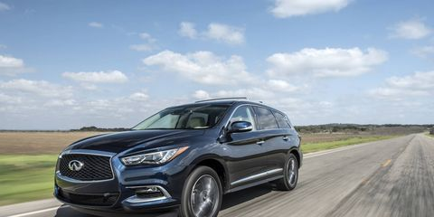The 2017 Infiniti QX60 competes with the Lexus RX, Acura MDX and the Volvo XC90.