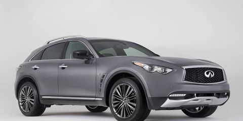 A gallery for the 2017 Infiniti QX70 Limited.