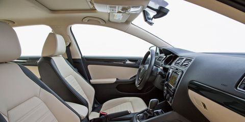 This is a lower trim of the 2017 Volkswagen Jetta, but it's still comfortably appointed.
