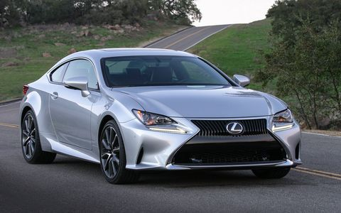 The RC 200t is one of several 2017 Lexus models powered by a 2.0-liter twin-scroll turbocharged inline four-cylinder engine with the D-4ST direct injection system and an intercooler. It delivers 241 hp, with 258 lb.-ft. of peak torque at 1,650-4,400 rpm.