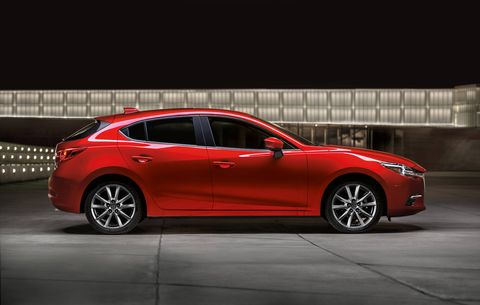 The 2018 Mazda 3 comes with either a 2.0-liter four making 155 hp or a 2.5-liter making 184 hp.