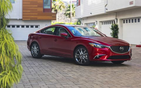 The 2017 Mazda 6 has a ton of trunk space, room for four adults and a peppy four-cylinder engine.