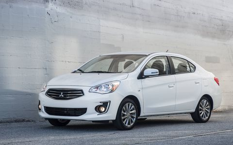 The 2017 Mitsubishi Mirage G4 sedan makes a US debut at the New York auto show.