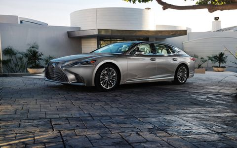 The 2018 Lexus LS goes on sale late this year with a twin-turbo V6 and ten-speed transmission.