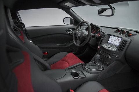 The Nissan 370Z Nismo comes standard with Recaro leather/Alcantara seats.
