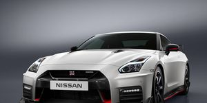 2017 Nissan GT-R NISMO- The 2017 Nissan GT-R NISMO's front end features a freshened face highlighted by an aggressive new fascia.