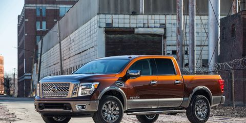 The 2017 Nissan Titan Crew Cab is the latest addition to Nissan's pickup truck line; the half-ton pickup goes up against the Chevy Silverado, Ford F-150, Ram 1500 and Toyota Tundra.