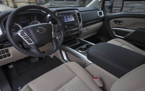 The 2017 Nissan Titan King Cab can seat six but you can option away the rear seat for more in-cab storage.