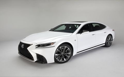 The LS 500 F Sport gets chassis, interior and exterior upgrades, but the same 415-hp twin-turbo V6 as the standard LS 500 sedan.
