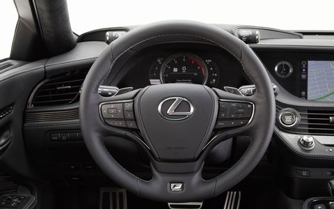 The F Sport upgrade adds a new steering wheel, seats, gauges and few other new bits.