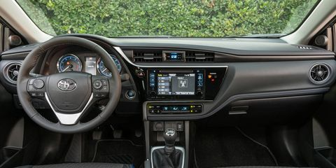 Standard on all Corollas, TSS-P is a safety system that bundles the pre-collision system with pedestrian detection; lane departure alert with steering assist; dynamic radar cruise control and automatic high beams.