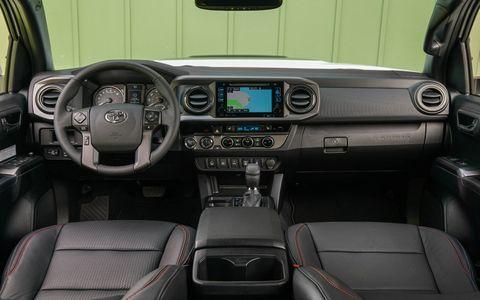 Inside the 2017 Toyota Tacoma TRD Pro pickup truck