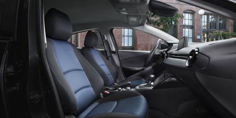 The 2017 Toyota Yaris iA has a spartan, utilitarian interior.