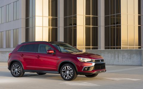 The Mitsubishi Outlander Sport has a 2.0-liter I4 that makes 148 hp and 168 lb-ft of torque.