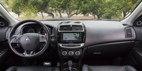 The Outlander Sport's interior feels a bit dated compared to the competition.