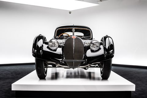 There's probably no car more closely associated with Ralph Lauren than his jewel-like 1938 Bugatti T-57SC Atlantic.