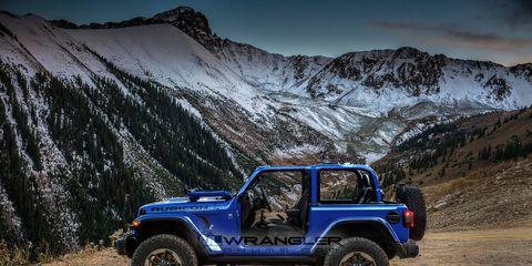 2018 Jeep Wrangler JL in ocean blue metallic, rendered by JLWranglerforums.com.