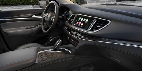 The 2018 Buick Enclave comes standard with an 8-inch display screen.