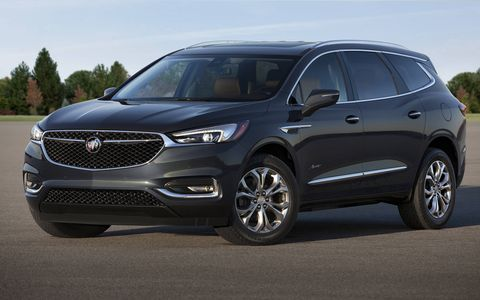 All 2018 Buick Enclaves get a 310-hp V6 and a nine-speed automatic. The Avenir is the top trim, and the name of Buick's new subbrand. Think of it as the company's Denali.