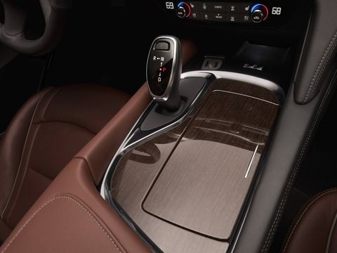 Heated and ventilated front seats are standard on the Enclave Avenir.