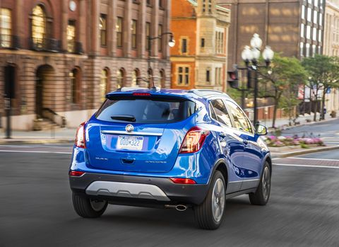 The 2018 Buick Encore is only offered with a choice of two 1.4-liter turbo fours making either 138 hp and 148 lb-ft of torque or 153 hp and 177 lb-ft.