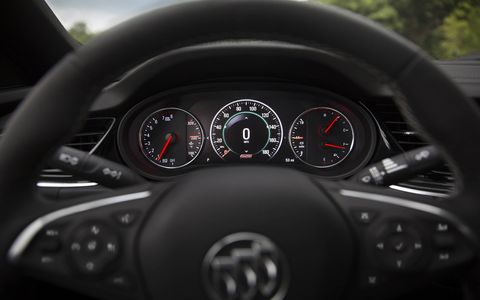 The 2018 Buick Regal's interior is as sporty as the rest of the car's upgrades.
