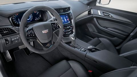 The 2018 Cadillac CTS-V starts a little higher than the base price of Chevrolet Corvette Z06. But if you're looking for cargo and people space, you have to go with the Caddy.