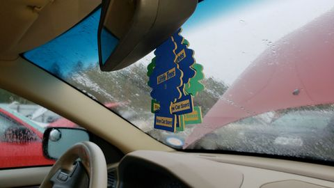 New Car Scent, Royal Pine, and Bayside Breeze Car-Freshener Little Trees here.