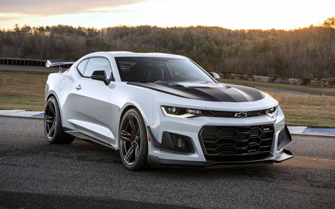 The Camaro ZL1 1LE gets the supercharged V8 from the Corvette Z06 and all the suspension bits from the 1LE.