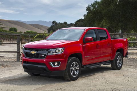 The 2018 Chevy Colorado Diesel comes with a 186-hp, 369 lb-ft turbocharged I4.