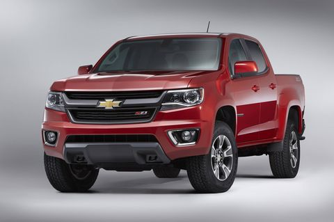 The 2018 Chevrolet Colorado offers either a 200-hp I4, a 308-hp V6 or a 186-hp, 2.8-liter diesel.