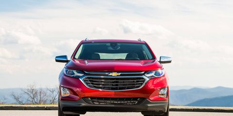 The 2018 Chevy Equinox comes with a 1.5-liter DOHC turbocharged I4 making 170 hp @ 5,600 rpm and 203 lb-ft @ 2,000-4,000 rpm.