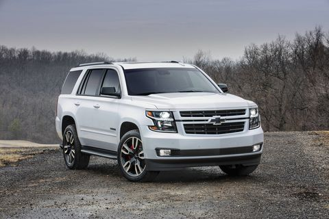 The 2018 Chevy Tahoe RST gets a 6.2-liter V8 making 420 hp and 460 lb-ft of torque.