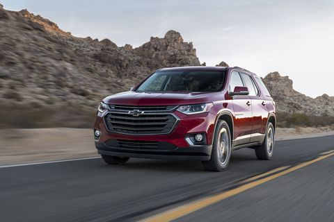 The 2018 Chevrolet Traverse RS FWD comes exclusively with the 2.0-liter turbo I4.