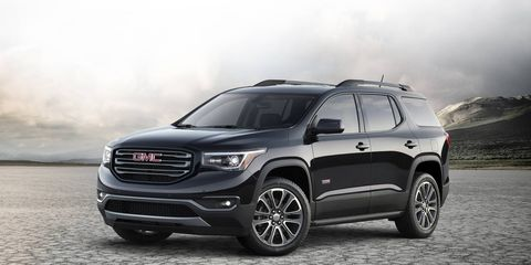 The 2018 GMC Acadia has a 3.6-liter V6 producing 310 hp and 271 lb-ft of torque.